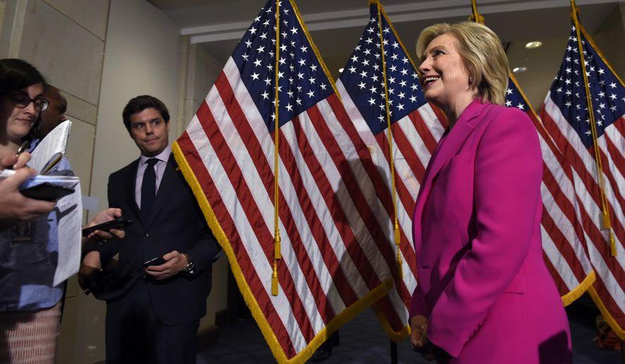 Democratic presidential candidate Hillary Rodham Clinton said the Iran nuclear deal is a step in the right direction. (AP Photo)