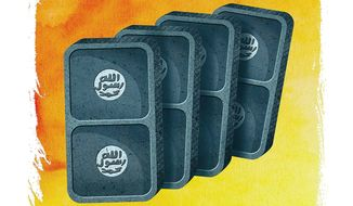 ISIS Dominoes Illustration by Greg Groesch/The Washington Times