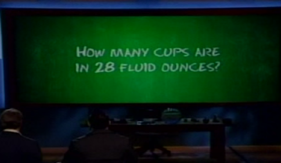 HOW MANY CUPS ARE IN 28 FLUID OUNCES?