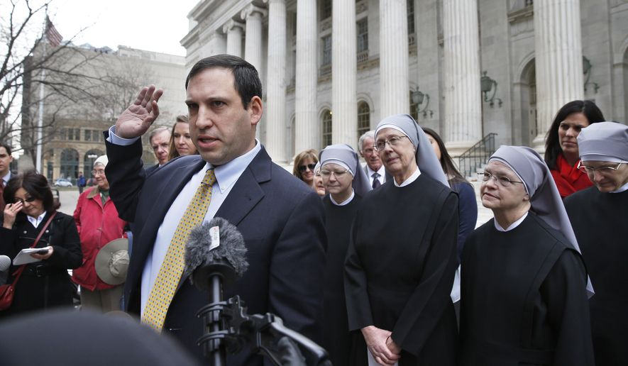 Mark Rienzi, senior counsel at the Becket Fund for Religious Liberty, is representing Little Sisters of the Poor. (Associated Press/File)