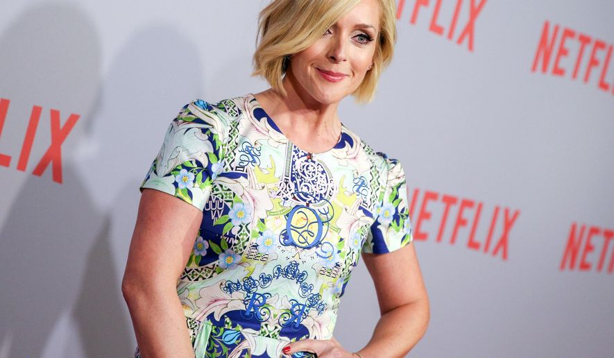 """FILE - In this June 7, 2015, file photo, Jane Krakowski arrives at Netflix's """"Unbreakable Kimmy Schmidt"""" Q&A Screening in West Hollywood, Calif. The Roundabout Theatre Company said Wednesday, July 15, 2015, that Krakowski will join Laura Benanti and Josh Radnor in the 1963 romantic musical about two star-crossed co-workers. (Photo by Rich Fury/Invision/AP, File)"""
