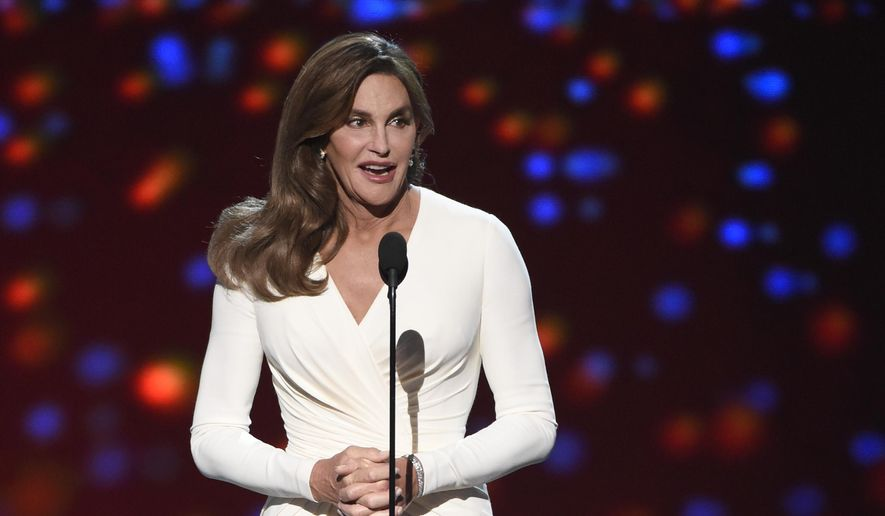 Caitlyn Jenner accepts the Arthur Ashe award for courage at the ESPY Awards at the Microsoft Theater on Wednesday, July 15, 2015, in Los Angeles. (Photo by Chris Pizzello/Invision/AP) ** FILE **