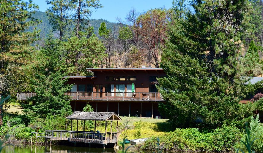 A modern-style Southern Oregon house once owned by Steve Miller of the Steve Miller Band, is viewed in Williams, Ore., on July 7, 2015. The house has been added to the National Register of Historic Places. Surprisingly, the most famous place in this old gold mining town, owned by Miller from 1976-1986, where he retreated to during a decade of prolific writing and performing, has suddenly vaulted isolated Williams into the spotlight. (Janet Eastman/The Oregon via AP) MAGAZINES OUT; TV OUT; NO LOCAL INTERNET; THE MERCURY OUT; WILLAMETTE WEEK OUT; PAMPLIN MEDIA GROUP OUT; MANDATORY CREDIT