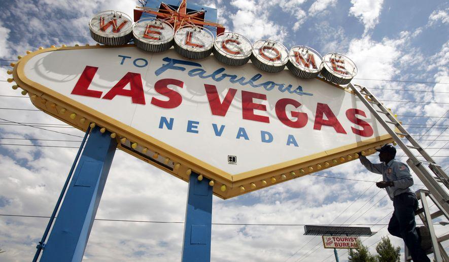 "The iconic ""Welcome to Las Vegas,"" sign in Las Vegas, Nevada. (AP Photo/Joe Cavaretta, File)"