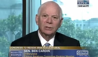 """Democratic Maryland Sen. Ben Cardin ripped into a caller on C-SPAN's """"Washington Journal"""" Wednesday after the caller questioned Mr. Cardin's loyalty to the U.S. because of his Jewish faith. (C-SPAN)"""