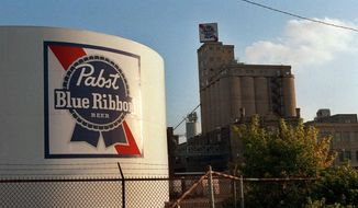 The Pabst brewery in Milwaukee is seen here on Sept. 9, 1996. The Pabst Brewing Company, which closed the Milwaukee plant in 1966, announced July 15, 2015 that will open a new brewery in Milwaukee on the site of the original brewery. (Associated Press)