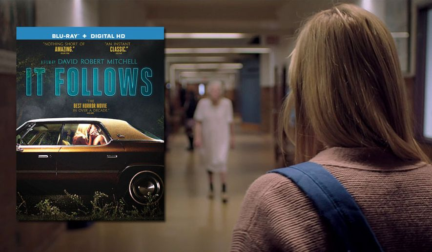 "Maika Monroe stars in ""It Follows"" from Anchor Bay Entertainment, now availbale on Blu-ray."