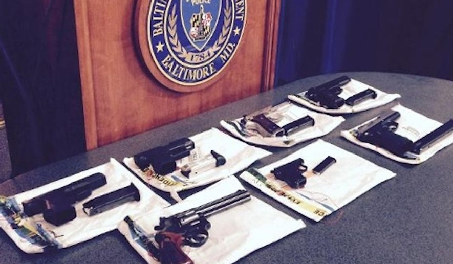 Baltimore officials have suspended operations of the Safe Streets anti-violence program after police found guns and narcotics upon raiding one of its four offices. (WBAL-TV/Barry Simms)