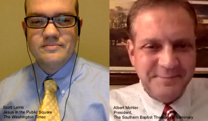 Scott Lamb and Albert Mohler talk about how Christians should respond to the Planned Parenthood video.  Screenshot of video by Lamb and Mohler.