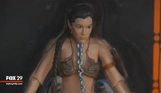 Carrie Fisher has come out in support of Hasbro's Princess Leia action figure after offended parents complained about the doll's enslaved bondage look. (Fox 29)
