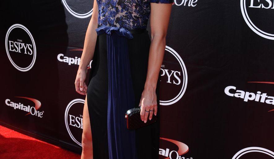 U.S. soccer player Alex Morgan arrives at the ESPY Awards on Wednesday, July 15, 2015, in Los Angeles. (Photo by Richard Shotwell/Invision/AP)