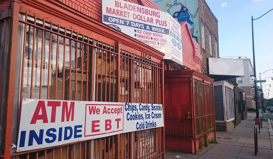 Bladensburg Market Dollar Plus was ordered closed by the city for 96 hours on Monday after officials said they found synthetic marijuana being sold there. (Andrea Noble/The Washington Times)