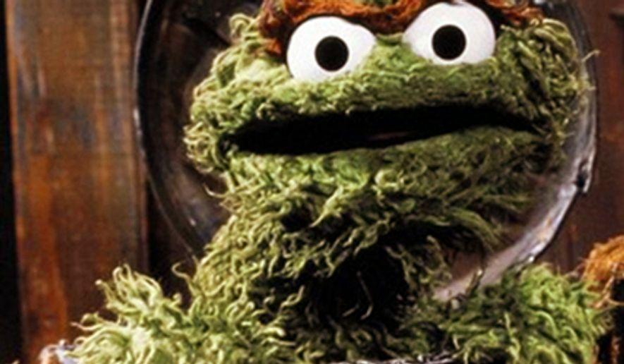 Sesame Street character Oscar the Grouch.