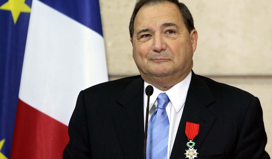 FILE - In this Monday, Oct. 16, 2006 file photo, Abe Foxman, national director of the Anti-Defamation League, a U.S. group that fights racism and anti-Semitism, delivers a speech after he was awarded with the medal of Knight in the Legion of Honor order by French President Jacques Chirac, during a ceremony at the Elysee Palace in Paris. On Monday, July 20, 2015, Foxman retires as national director, a major moment of transition in American Jewish life that raises questions about the future of the organization known as the ADL. (AP Photo/Christophe Ena)