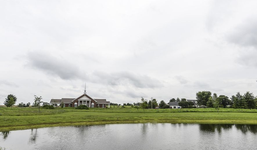 The nearly completed New Birth Temple sit on 14 acres on the outskirts of Danville, Ky. It is expected to open no later than the first weekend of September. (Clay Jackson//The Advocate-Messenger via AP) TABLOIDS OUT; MANDATORY CREDIT
