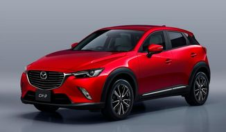 The 2016 Mazda CX-3 is set at a low price in subcompact crossover market (Courtesy of Mazda).