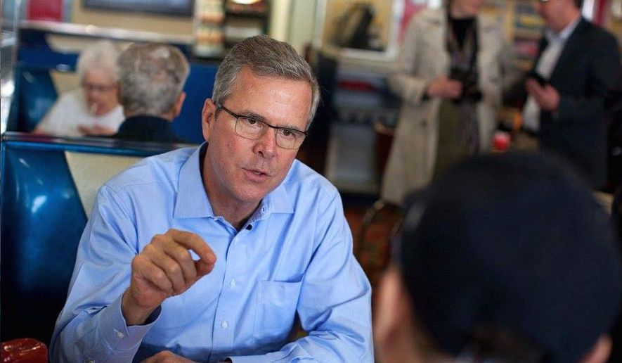 "A leaner, more aggressive Jeb Bush begins a series of heavy policy speeches on Monday, starting with a talk titled ""Taking on Mt. Washington."" (Jeb2016 campaign)"
