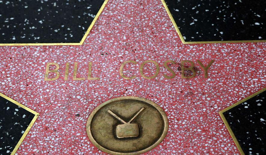 FILE- This July 9, 2015, file photo shows Bill Cosby's star on the Hollywood Walk of Fame on Hollywood Boulevard in Los Angeles. Cosby detailed his efforts to keep his exploits from his wife in a transcript of a 2005-06 deposition taken in Philadelphia. It is the only publicly available testimony he has given in response to accusations he drugged and sexually assaulted dozens of women over four decades. Cosby has denied the allegations, calling the sexual contact consensual. (AP Photo/Nick Ut, File)