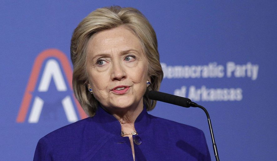 In a speech last week outlining her economic agenda, Hillary Rodham Clinton vowed that, if elected president, she would crack down on Wall Street and more vigorously pursue criminal charges against corporate titans who break the law. (Associated Press) ** FILE **