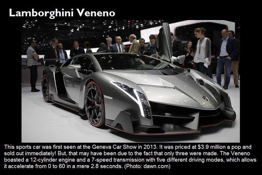 Lamborghini Veneno (Photo: dawn.com)