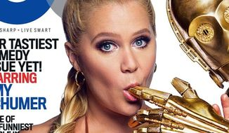 """Disney is slamming the """"inappropriate use"""" of Stars Wars characters posing with comedian Amy Schumer in a photo spread for GQ. (Twitter/@GQMagazine)"""