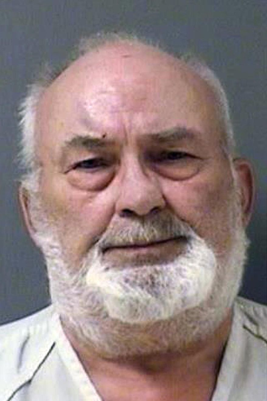 This undated booking photo provided by Yellowstone County Detention Facility shows James D. Sindelar, 73, of Ballantine, Mont. who was arrested and charged with negligent homicide and is currently being held in the Yellowstone County Detention Facility. Sindelar is suspected in a Monday, July 20, 2015 shooting that left one person dead near Ballantine, about 20 miles northeast of Billings, Mont. (Yellowstone County Detention Facility via AP)