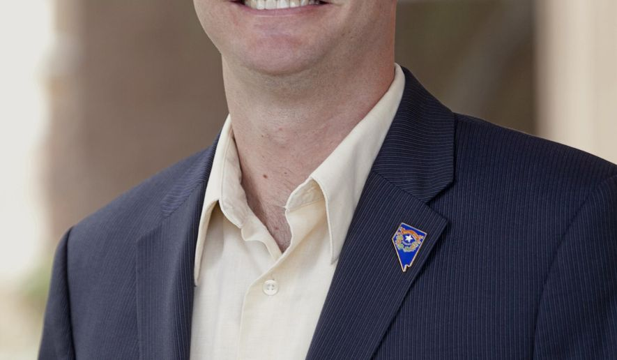 This undated photo provided by Matthews for Nevada shows Andy Matthews. The president of the conservative Nevada Policy Research Institute has resigned his post to become the fourth Republican seeking the state's 3rd Congressional District seat announced Monday, July 20, 2015. (Jeremy Sykes/Matthews for Nevada via AP)