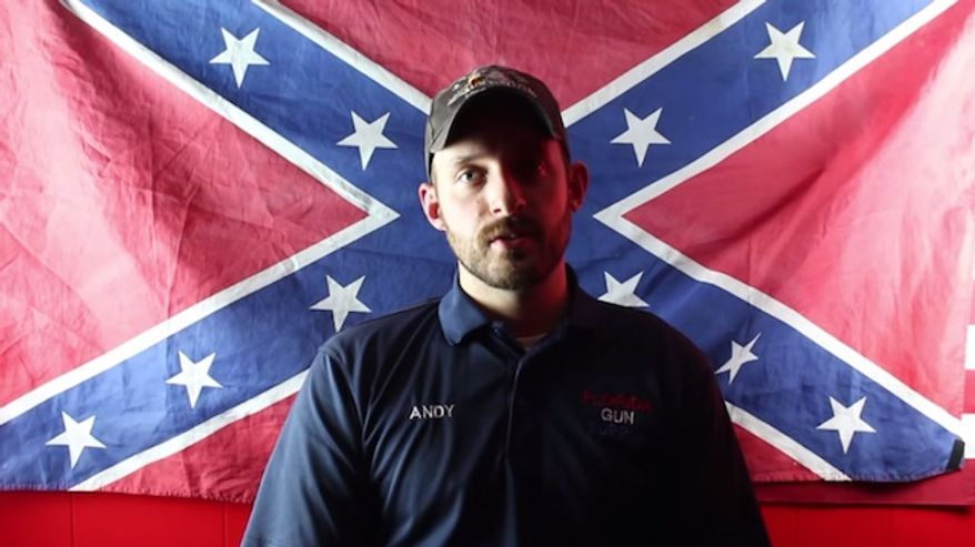 """The Council on American-Islamic Relations (CAIR) is calling on the Department of Justice to investigate Florida Gun Supply owner Andy Hallinan after he declared his business as """"Muslim-free"""" in a YouTube video. (YouTube/Florida Gun Supply)"""