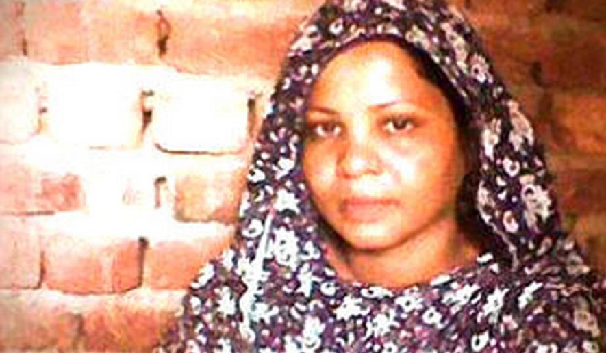 Asia Bibi, Pakistani Christian facing execution for blasphemy of Muhammad. Photo courtesy of Voice of the Martyrs.