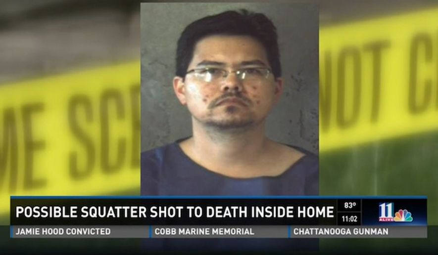 Terrance Medina, 39, has been charged with murder after he allegedly shot and killed an intruder Monday morning at his father's home. (WXIA)