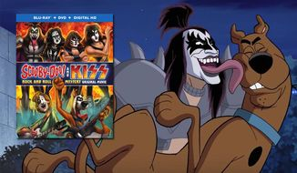 The Demon meets Scooby-Doo in Warner Home Video's Scooby-Doo! & Kiss: Rock & Roll Mystery, now available in the Blu-ray.