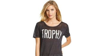 "Target is in damage-control mode after receiving a series of complaints on social media about a ""Trophy Wife"" T-shirt that users are calling demeaning and sexist. (Target)"