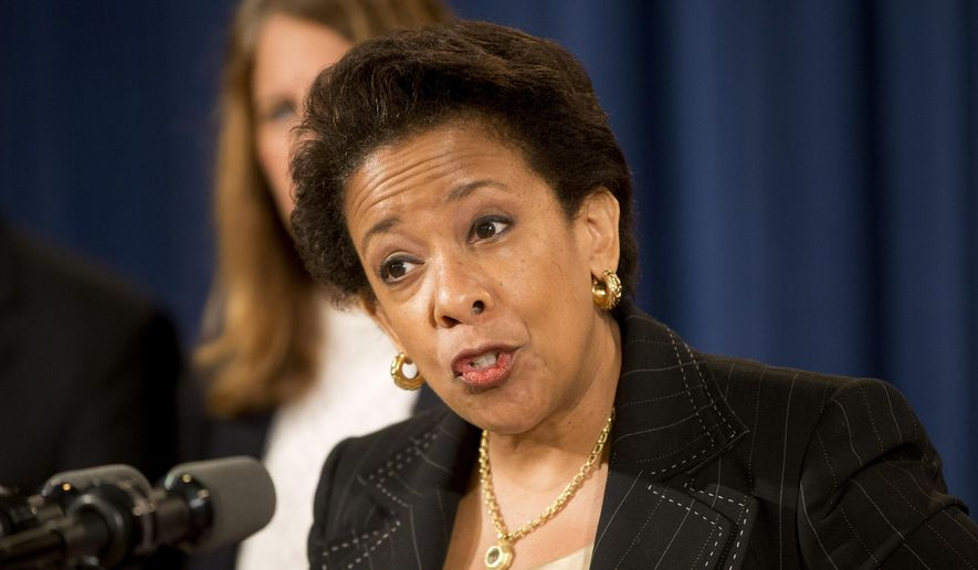 Attorney General Loretta Lynch speaks at a news conference at the Justice Department in Washington on June 18, 2015. Lynch announced that Dylann Roof, the man accused of slaying of nine black church members in Charleston last month was indicted July 22, on 33 federal counts, including hate crimes, firearms violations and obstructing the practice of religion, which could include the death penalty.  (AP Photo/Pablo Martinez Monsivais, File)