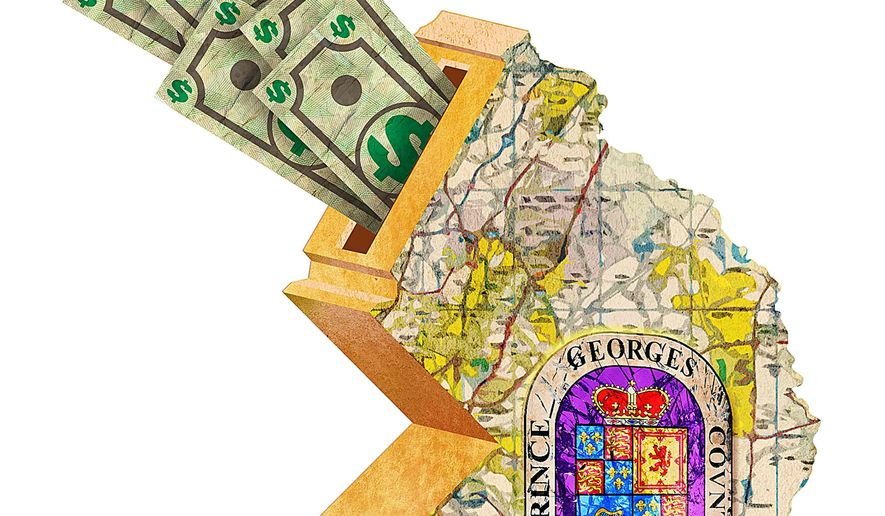 Waste and Mismanagement in Prince George's County Illustration by Greg Groesch/The Washington Times