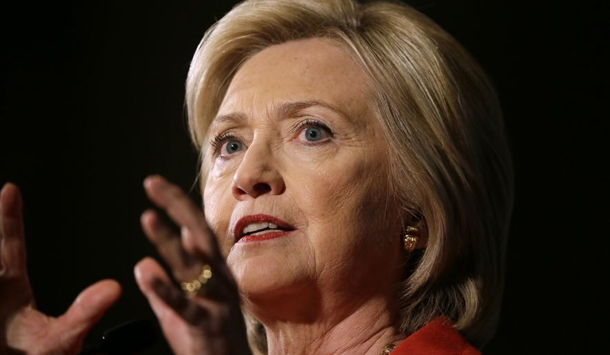 Struggling to find areas of leadership, Hillary Rodham Clinton is sliding in the polls, seeing her unfavorable rating shoot up as she slips behind leading Republicans in head-to-head matchups. (Associated Press)