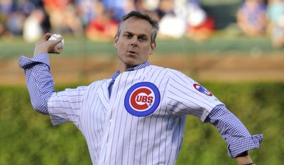 "FILE - In this Aug. 13, 2013, file photo, wldESPN radio host Colin Cowherd tosses out a ceremonial pitch before a baseball game between the Cincinnati Reds and Chicago Cubs in Chicago. Major League Baseball says ESPN Radio host Colin Cowherd owes Dominican players an apology for remarks he made during his show.  In a statement Friday, baseball says it ""condemns the remarks,"" calling them ""inappropriate, offensive and completely inconsistent with the values of our game."" Cowherd had said Thursday that he didn't believe baseball was complex, saying a third of the sport was from the Dominican Republic, which had ""not been known, in my lifetime, as having, you know, world-class academic abilities."" (AP Photo/Jim Prisching, File)"