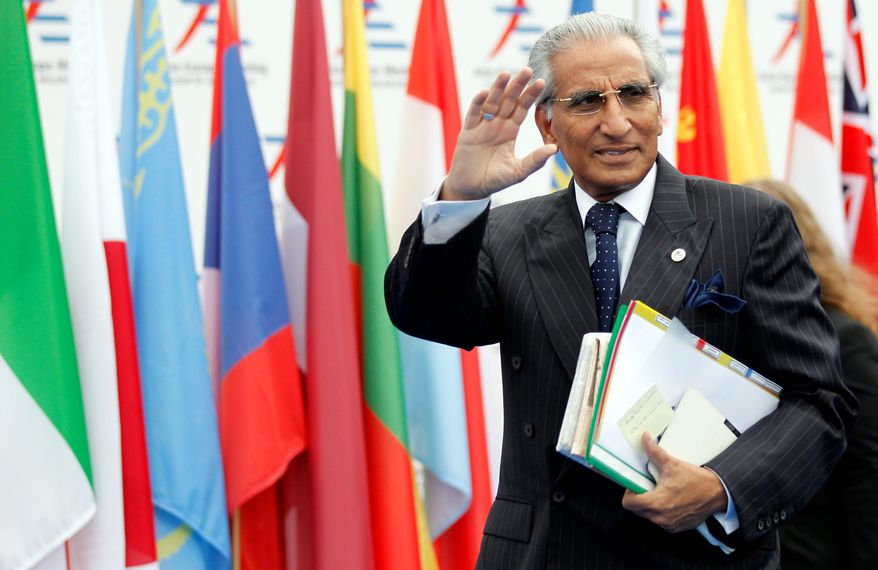 Syed Tariq Fatemi, special assistant on foreign affairs to Pakistan's prime minister, said his country is in constant contact with Iran about prospects for commercial ties. (Associated Press)