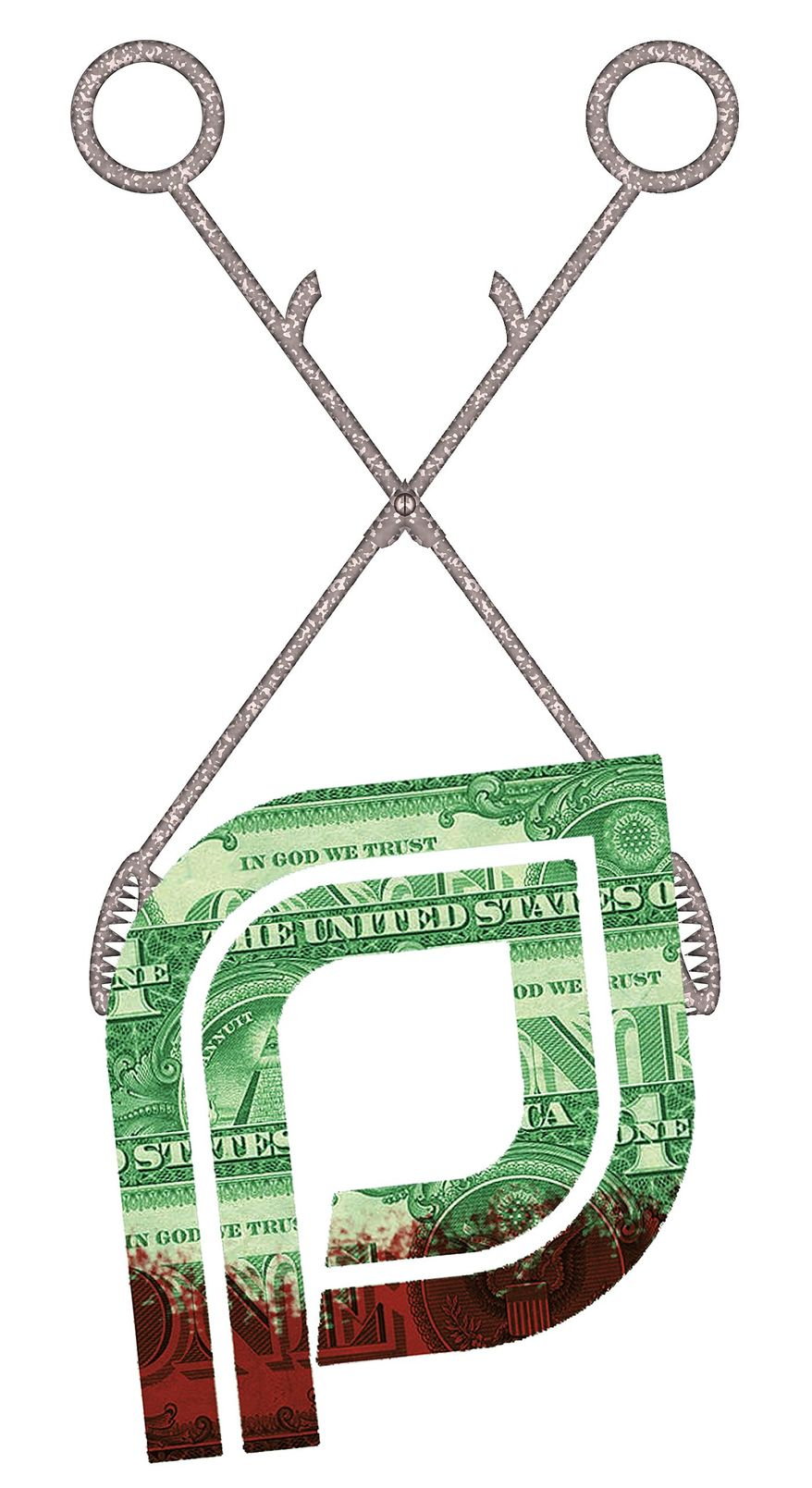 Illustration on ending taxpayer funding of Planned Parenthood by Alexander Hunter/The Washington Times