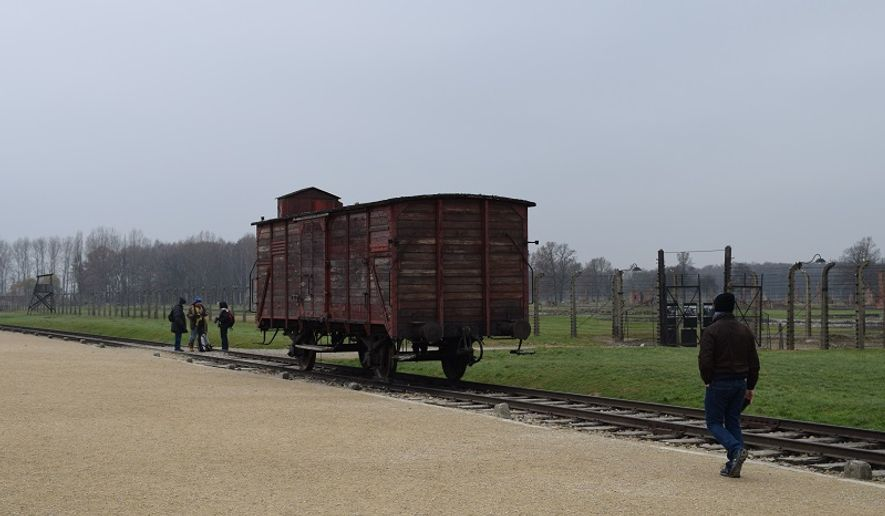 Train car used for transporting Jews to Auschwitz-Birkenau. Photo by W. Scott Lamb.