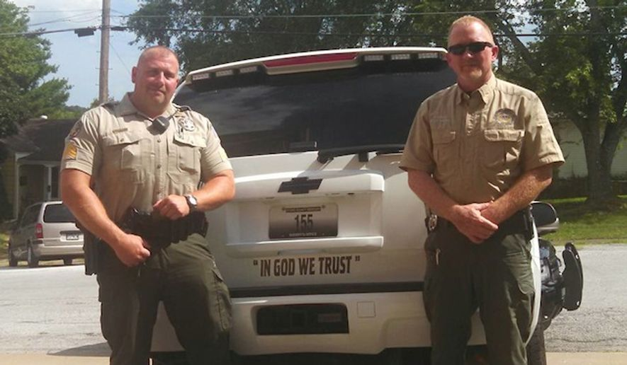"A Missouri sheriff is defending his decision to add ""In God We Trust"" decals to department-owned vehicles, after receiving criticism from those who argue it symbolizes state-sanctioned religion. (Facebook/Stone County Sheriff's Office)"
