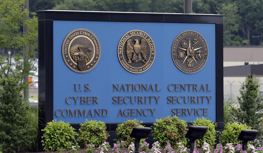 In this June 6, 2013, file photo, a sign stands outside the National Security Administration (NSA) campus on in Fort Meade, Md. The Obama administration has decided that the National Security Agency will soon stop using millions of American calling records it collected under a controversial program leaked by former agency contractor Edward Snowden. (AP Photo/Patrick Semansky, File)