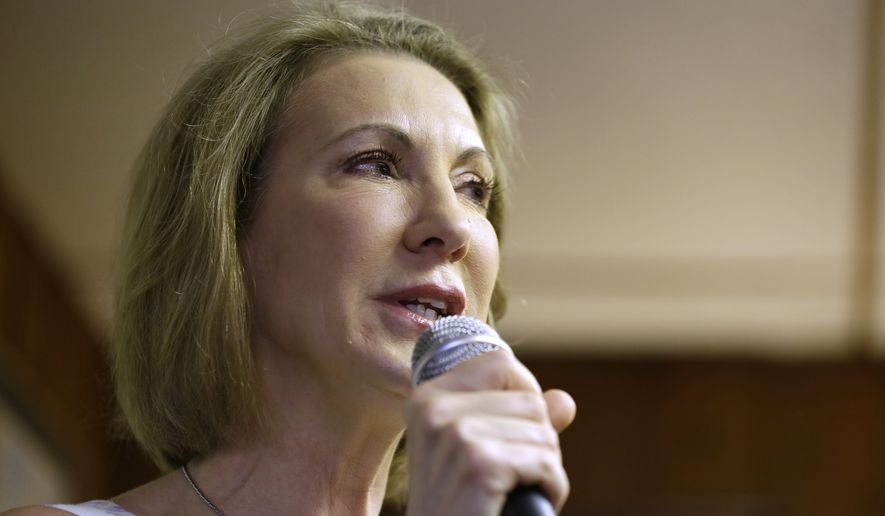 Carly Fiorina is among those who will benefit from Fox News's decision to drop the requirement that potential candidates average 1 percent support to get into its earlier candidate forum, which lasts one hour and starts at the much less attractive 5 p.m. time slot on Aug. 6. (Associated Press)