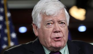 "Rep. Jim McDermott, Washington Democrat, compared the series of patches to squeezing a tube of empty toothpaste. ""Can I get one more? Can I get one more?"" he said. Congress hasn't passed a long-term highway bill in a decade. (Associated Press)"