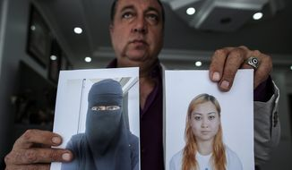 Sahin Aktan says his ex-wife, Asiya Ummi Abdullah, became a Muslim convert and took their child to the territory controlled by Islamic State. (Associated Press)
