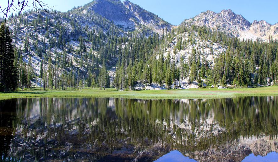 This photo taken on July 6, 2015, shows the Hoffer Lakes, which are a one mile hike from Anthony Lake in the Elkhorn Mountains of Eastern Oregon west of Baker City, Ore. (Zach Urness /Statesman-Journal via AP) MANDATORY CREDIT