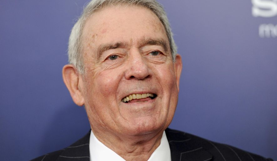 "In this Oct. 5, 2011, file photo, former CBS News anchor Dan Rather attends the premiere of ""The Ides of March"" in New York. (AP Photo/Evan Agostini, File)"