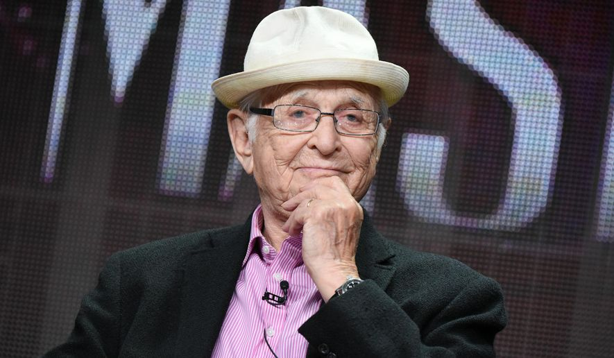 "Norman Lear speaks onstage during the ""American Masters: Norman Lear"" panel at the PBS 2015 Summer TCA Tour held at the Beverly Hilton Hotel on Saturday, August 1, 2015 in Beverly Hills, Calif. (Photo by Richard Shotwell/Invision/AP)"