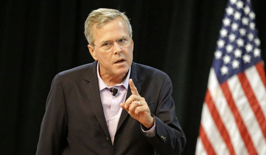 "Jeb Bush told an audience of major donors that the longest-running, unaddressed problem the U.S. faces has been legal ""chain"" immigration. (Associated Press)"