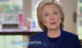Former Secretary of State Hillary Clinton. (YouTube screen grab)