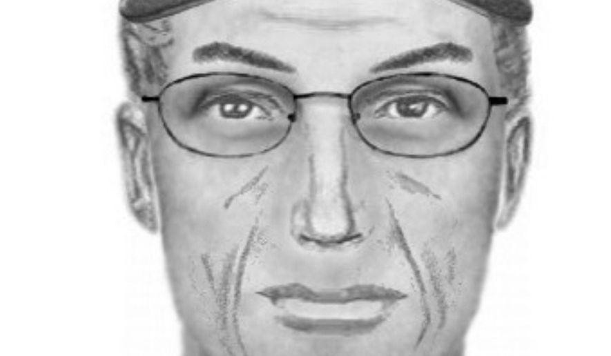 This undated composite sketch provided by the Kern County Sheriff's Office shows the suspect involved in the wounding of police officers in the Kelso Valley, Calif., area on Tuesday, July 28, 2015. Authorities on Monday, Aug. 3, searched an area east of Bakersfield, Calif., as part of a six-day manhunt involving the wounding of the deputies. (Kern County Sheriff's Office via AP)